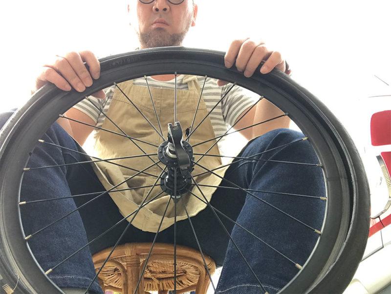 写真でわかるミニベロのタイヤ交換方法
